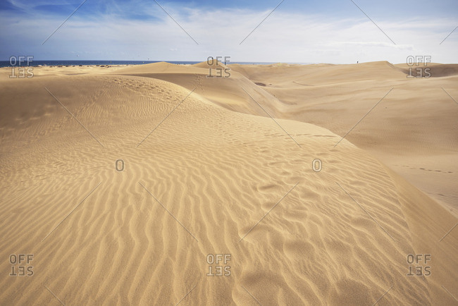 Spain- Canary Islands- Gran Canaria- sand dunes in Maspalomas