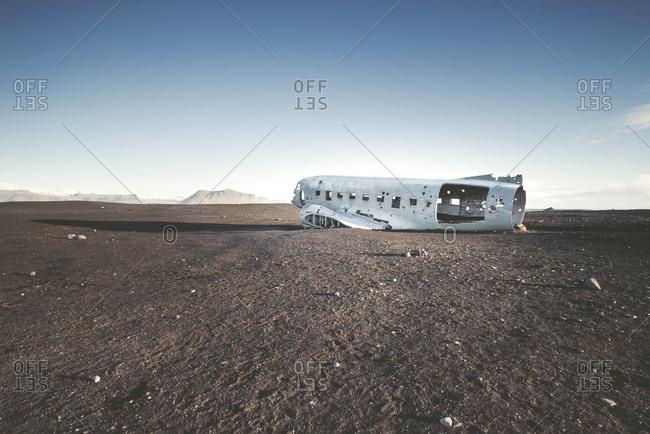 Iceland- Solheimasandur- plane wreck in the desert