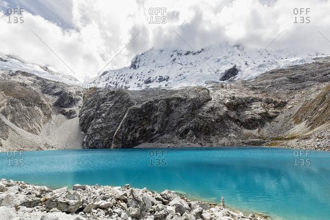 Peru- Andes- Cordillera Blanca- Huascaran National Park- Laguna 69 and Nevado Chacraraju