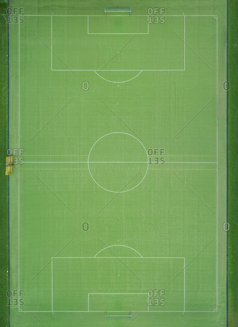 Empty football ground- top view