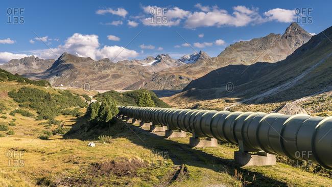Austria- Montafon valley- Silvretta pipeline and Bielerhohe