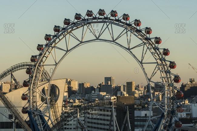 Tokyo, Japan - December 3, 2016: Amusement Park at Tokyo Dome City