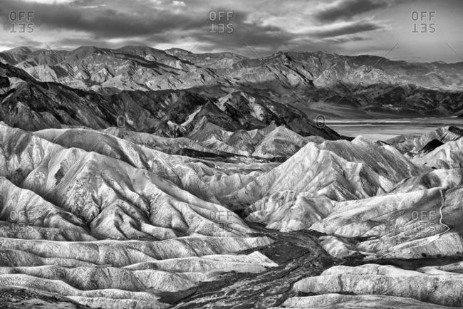 Eroded mountain ridges at Zabriskie Point, Death Valley