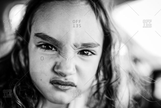 Little girl making a sassy face