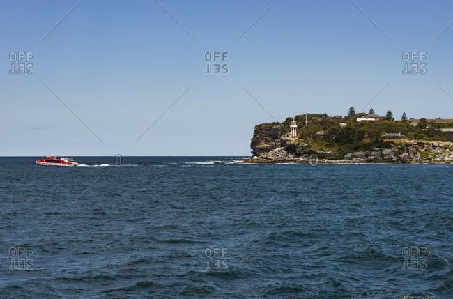 Sydney, Australia - November 1, 2016: Ferry boat near the shore