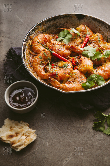 Prawns in a spicy Indian curry