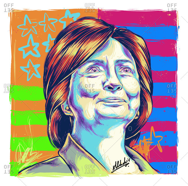Illustration of Hillary Clinton