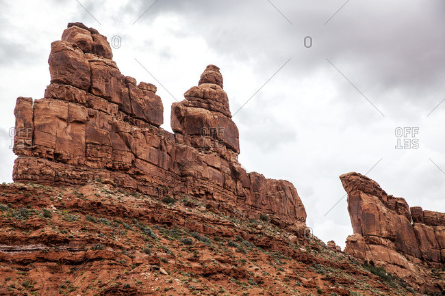Rock tower formations, New Mexico
