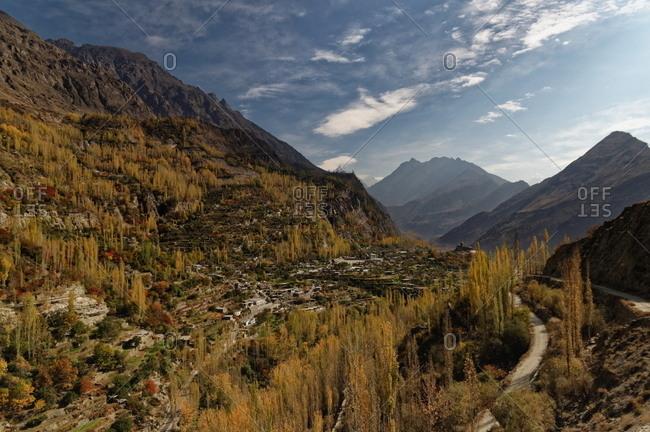 Hunza Valley in the Gilgit-Baltistan region of Pakistan