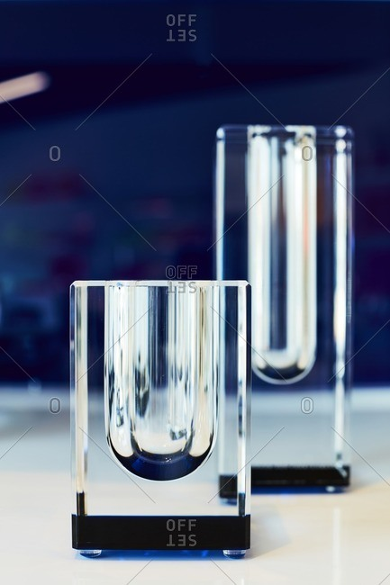 Two glass objects