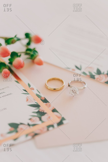 Wedding bands by invitations