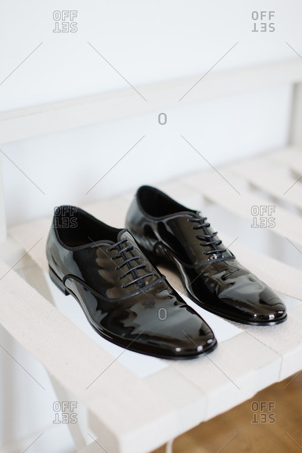 Shiny men's formal shoes