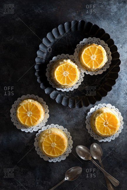 Clementine Upside Down Mini Cakes