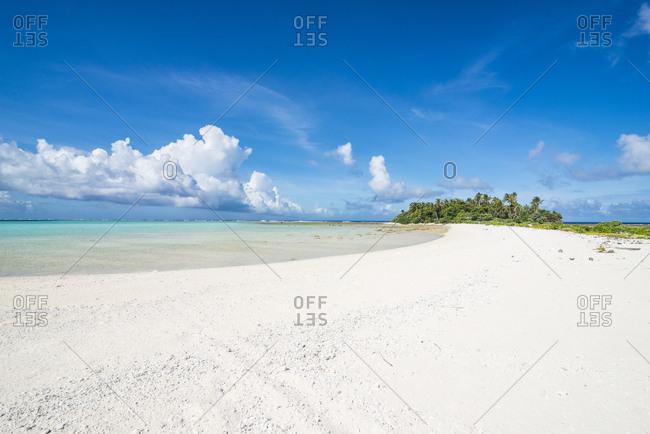 White sand beach on a little island in the lagoon of Wallis, Wallis and Futuna, Pacific