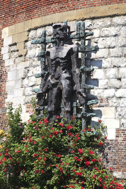 France, North-Eastern France, Lille, monument dedicated to the deported members of the Resistance