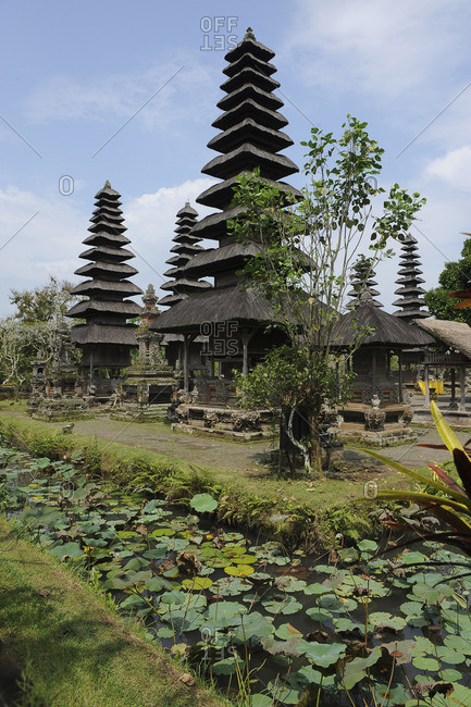 "Indonesia, Bali, Mengwi, the royal temple of Taman Ayun. Taman Ayun means ""pretty garden"". Built in the 17th Century, it is surrounded by a ditch of water"