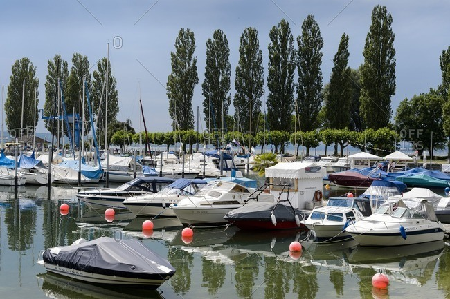 Baden-Wurttemberg, Germany - June 28, 2014: Germany, Baden-Wurttemberg, Unteruhldingen am Bodensee, Lake Constance