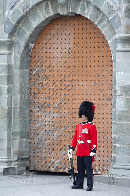 Canada, Province of Quebec - July 13, 2014: The Citadel shelters the 22nd Royal Regiment, the only French-speaking regiment of Canada