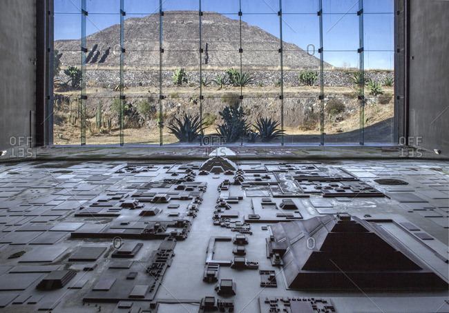 Mexico, State of Mexico, Teotihuacan archaeological pre-Columbian 200 BC, a UNESCO World Heitage Site, Museo del Sitio