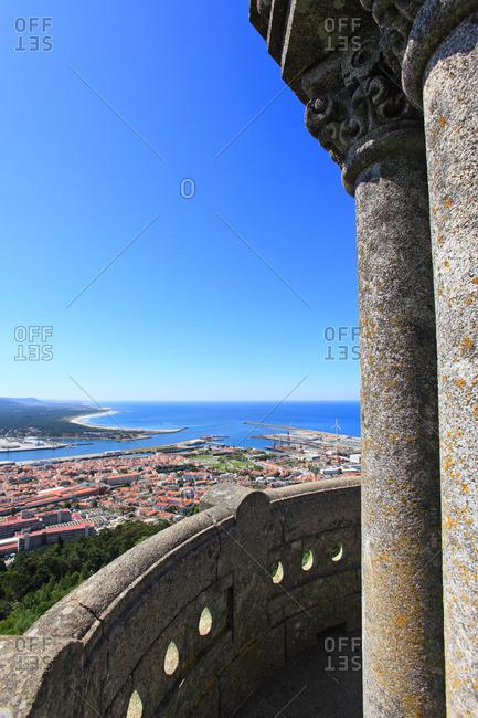 Portugal, Viano do Castelo. Basilica de Santa Luzia.