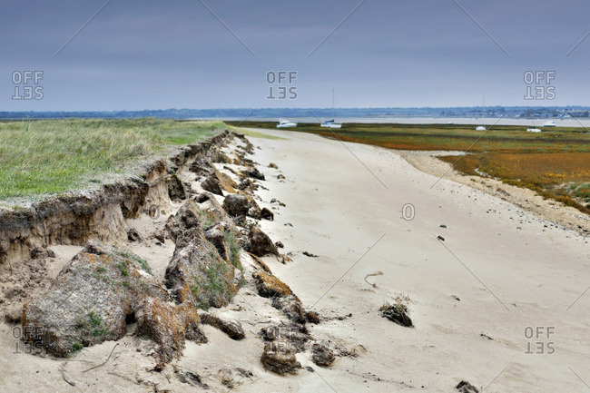 France, Normandy. Manche. Agon-Coutainville. Protected natural site Agon-Coutainville Cape.
