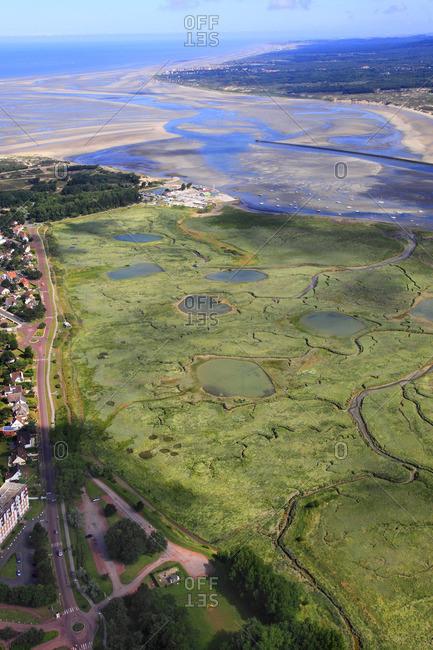 France, Northern France, Pas de Calais, Cote d'Opale. Le Touquet. Canche Bay.