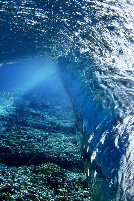 Low angle view of wave undersea