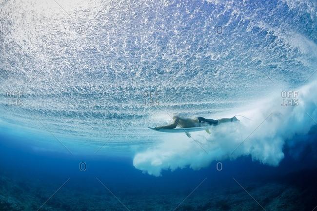Man surfing undersea