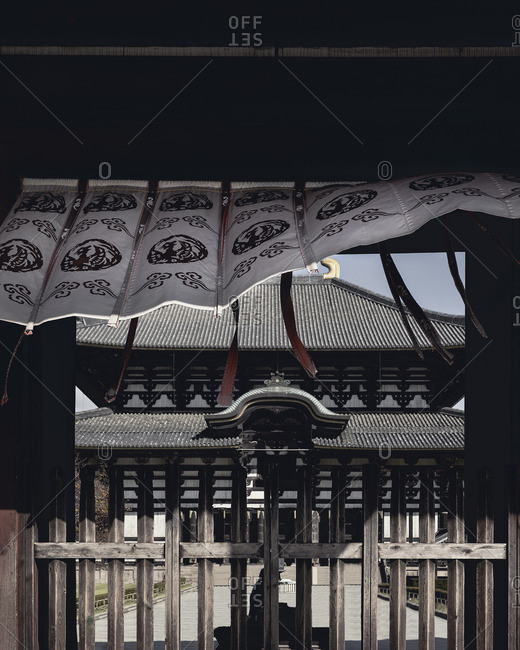 Awning on entrance against Todaiji temple