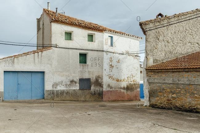 Facade of a house in an old village, Teruel, Spain