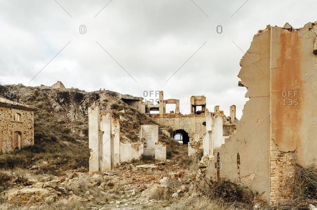 Vision of a ruined site of a former coal mine