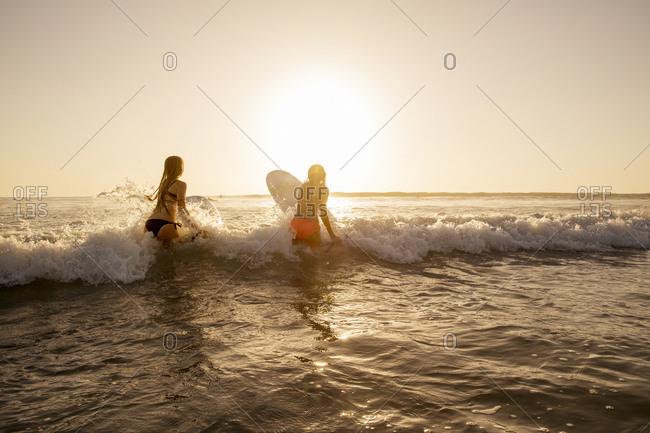 Girls in sea