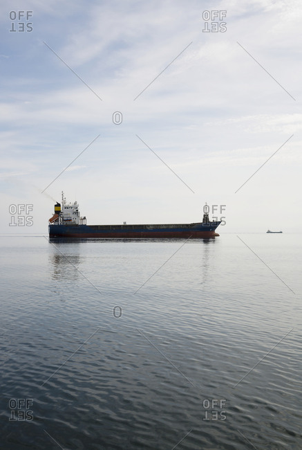 Cargo ship on sea