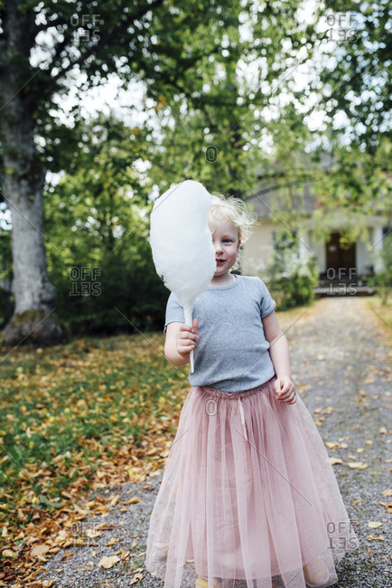 Girl with candy floss