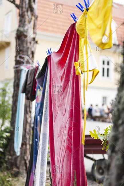 Laundry hanging on line