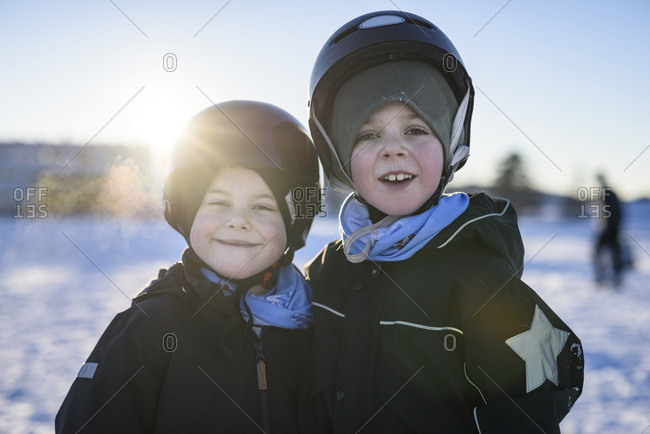 Portrait of smiling boys