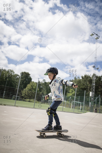 Boy Skateboarding Boy Skateboarding