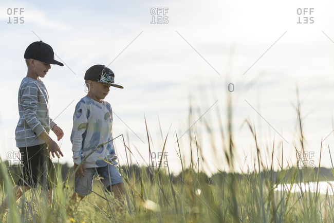 Boys walking together