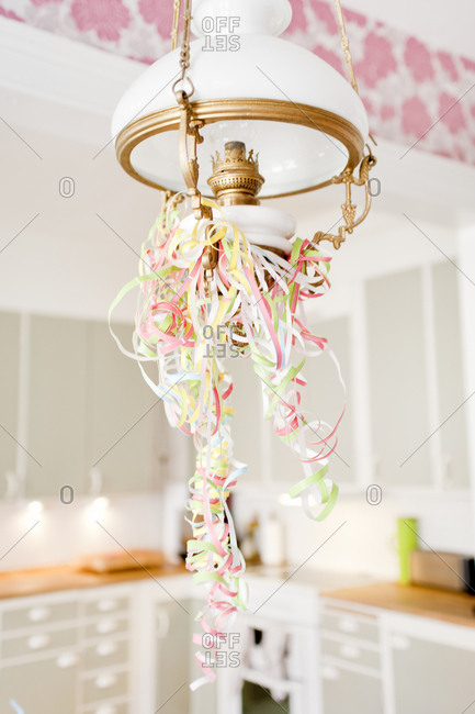 Decoration hanging from ceiling lamp