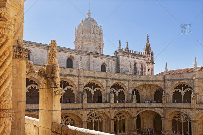 Courtyard at Mosteiro dos Jeronimos, Lisbon, Portugal