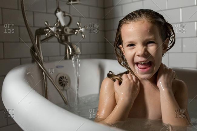 from Kamdyn young girl taking a bath nude