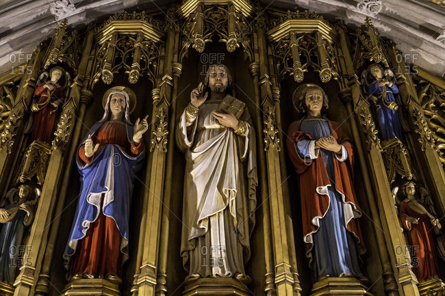 Washington DC - July 19, 2016: Holy figures in the Washington National Cathedral