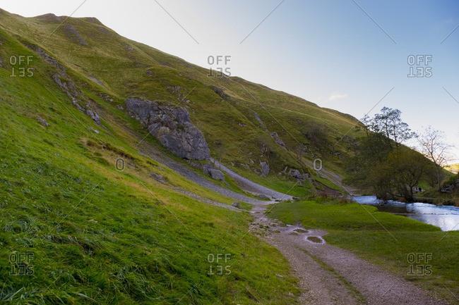 Landscape in Peak District, UK