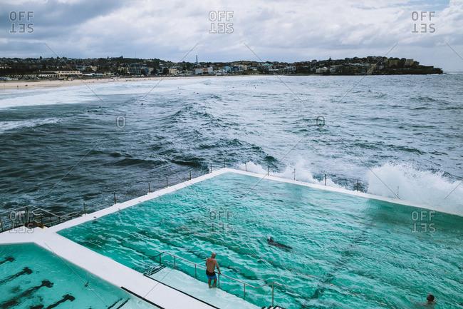 Swimmers at Oceanside pool, Sydney, Australia