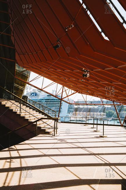 Sydney, Australia - November 14, 2016: Interior stairway of Opera House