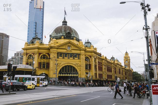 Melbourne, Australia - November 18, 2016: Flinders Street Railway Station