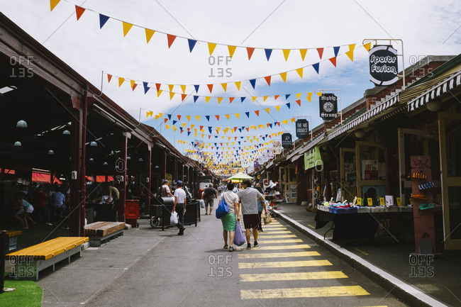 Melbourne, Australia - November 19, 2016: People in Queen Victoria Market