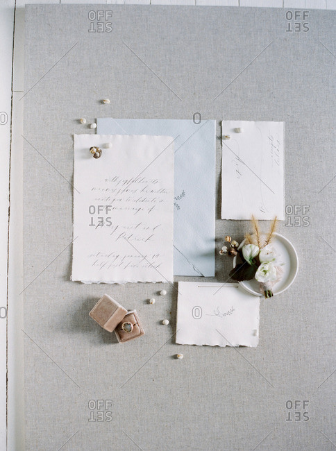 Wedding invitation and envelope