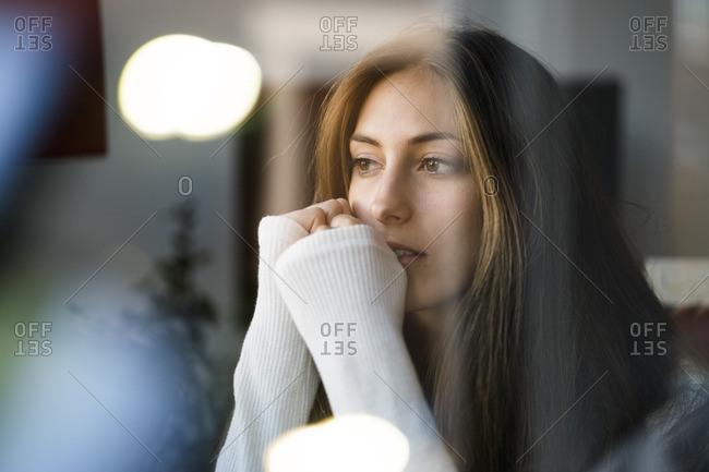Portrait of brunette young woman