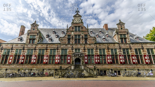 Netherlands, Zeeland - August 18, 2016: Middelburg, Kloveniersdoelen